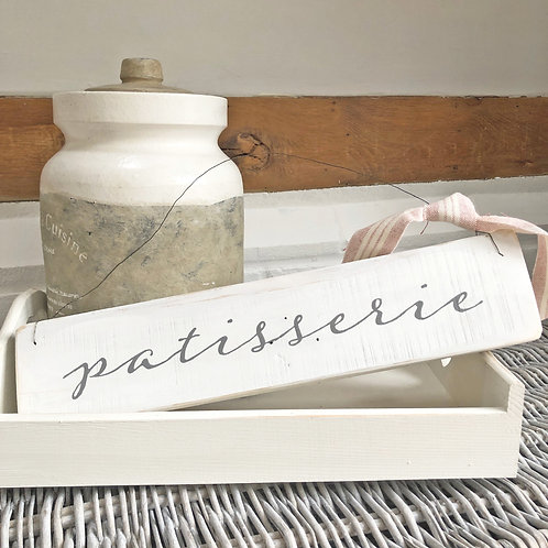 Hand painted wood sign - Patisserie