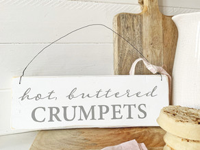 Hot buttered crumpets!