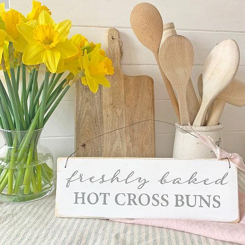 Kitchen sign - freshly baked hot cross buns