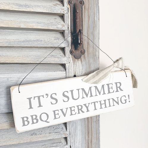 Kitchen sign - It's summer BBQ everything! | Fathers day gift