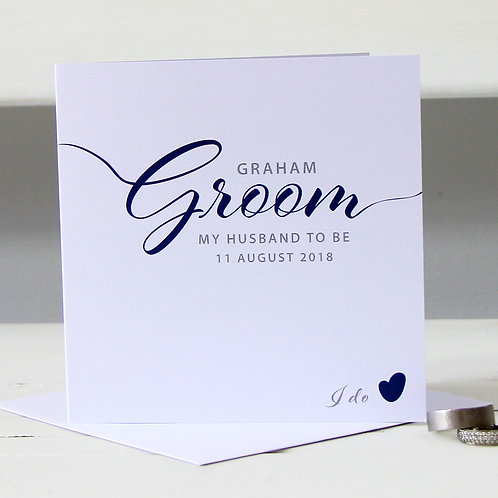 Personalised Groom / husband to be card (wedding)