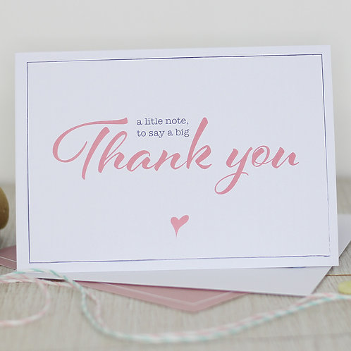 Thank you card - A little note to say a big Thank you