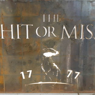 The Hit or Miss Plaque