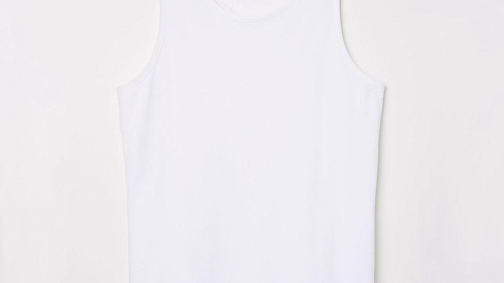 H&M Men White Solid Cotton  Vest T-shirt