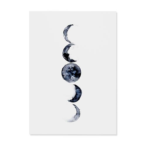 """Postkarte """"Mondphase"""""""