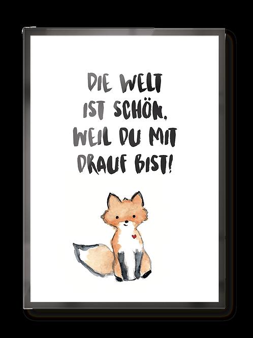 "Poster ""Fuchs"""