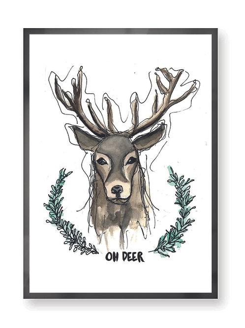 """Poster """"Oh Deer"""""""