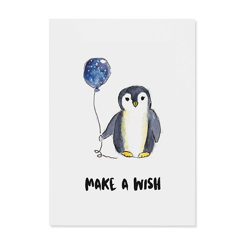 "Postkarte ""Make a wish"""