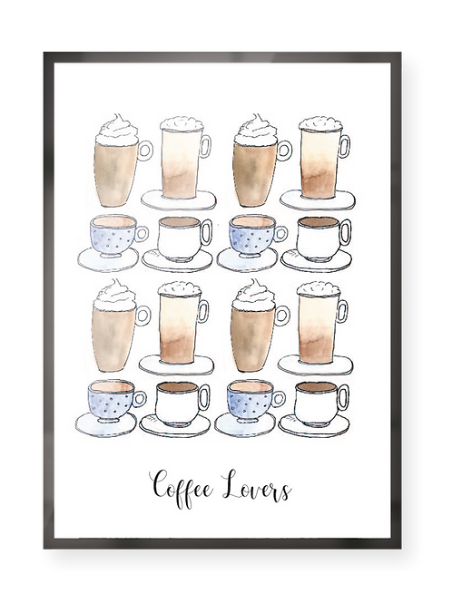 """Poster """"Coffee Lovers"""""""