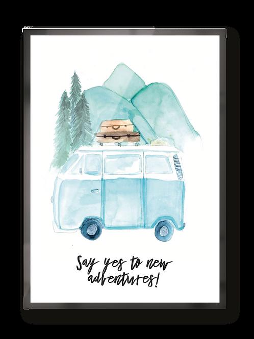 "Poster ""new adventures"""