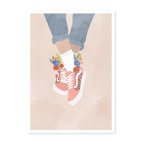Vans & Flowers · A3 · Kunstdruck mit Signatur