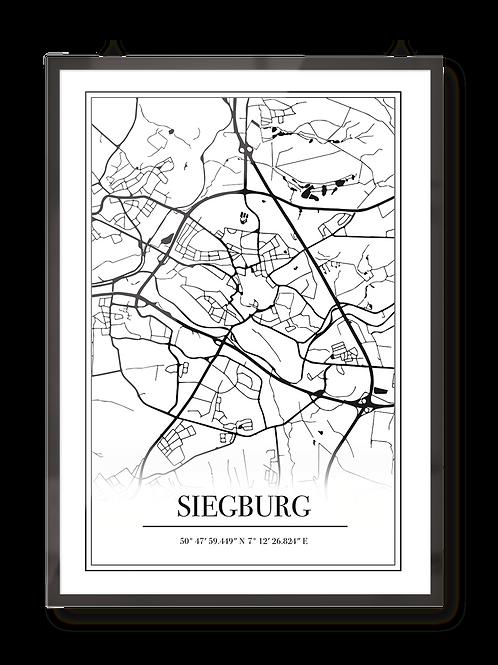 "Poster ""Siegburg Map"""