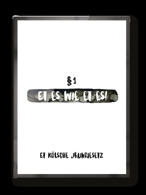"Poster ""Kölsche Jrundjesetz"""