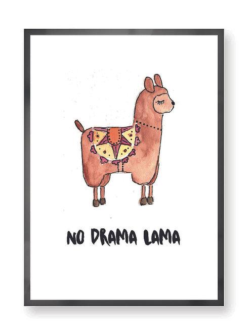 """Poster """"no drama lama"""""""