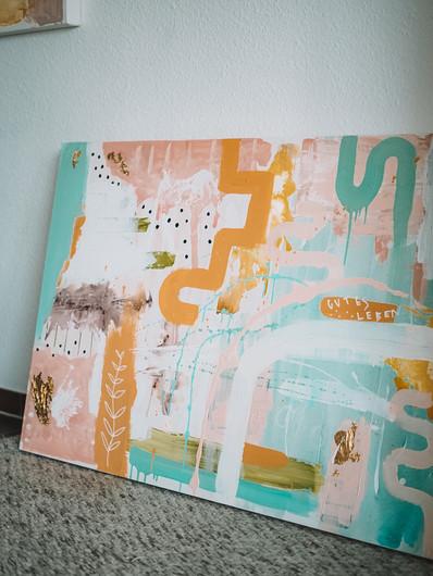 gutes Leben · abstraktes Gemälde