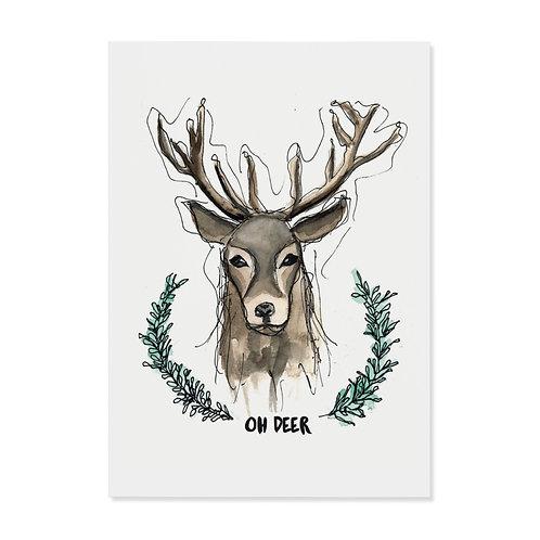 """Postkarte """"Oh deer"""""""