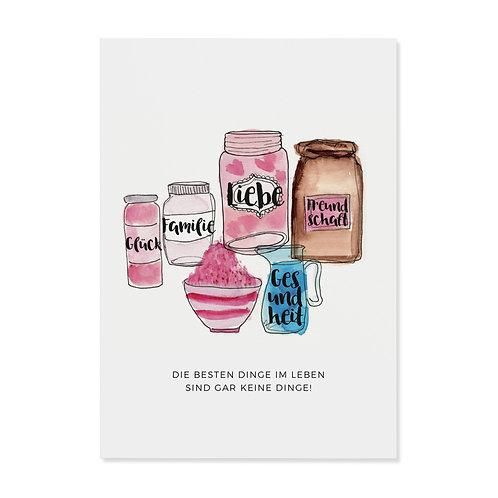 """Postkarte """"die besten Dinge"""""""