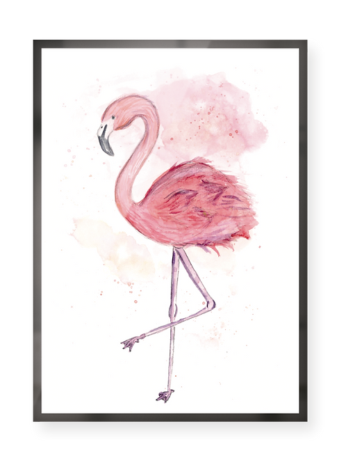 "Poster ""Flamingo"""