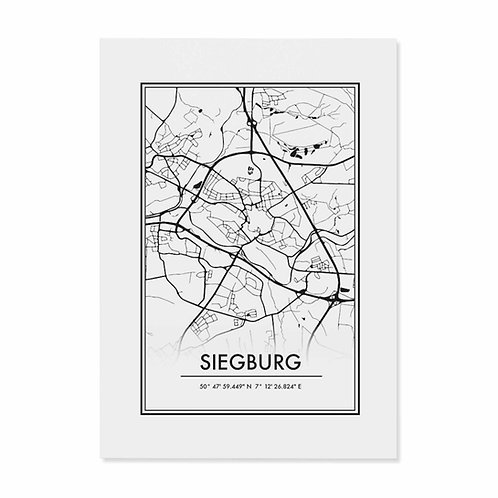 "Postkarte ""Siegburg Map"""