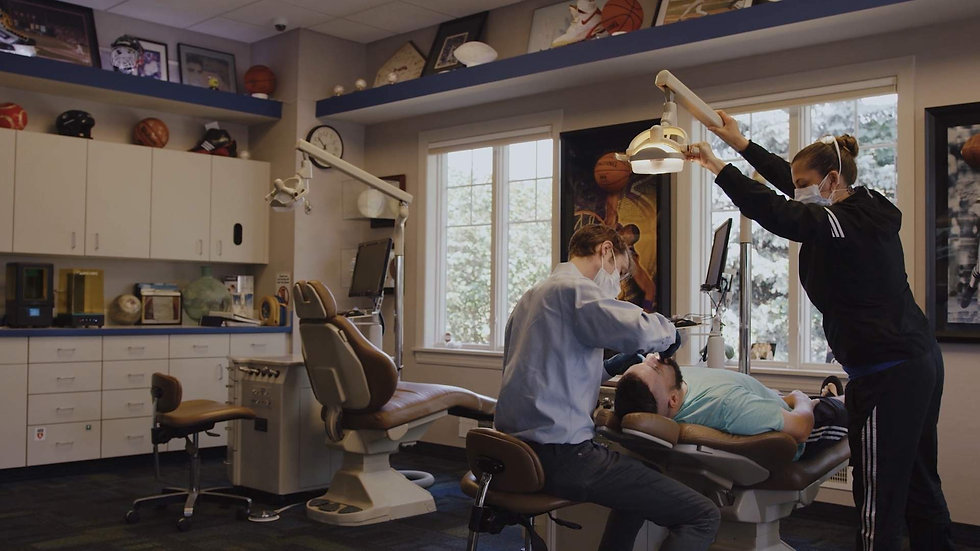 An Orthodontist performing treatment