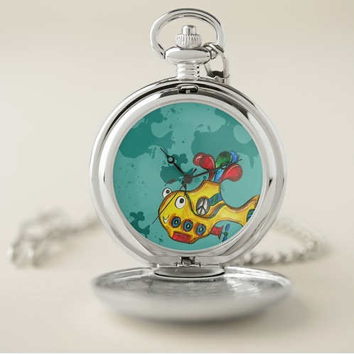 Yellow Submarine Pocket Watch