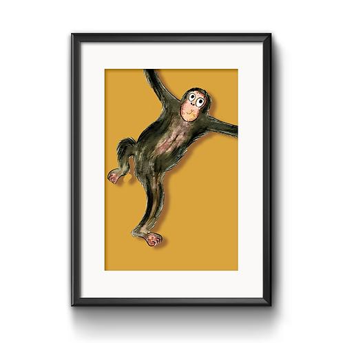 Matthew The Monkey Print