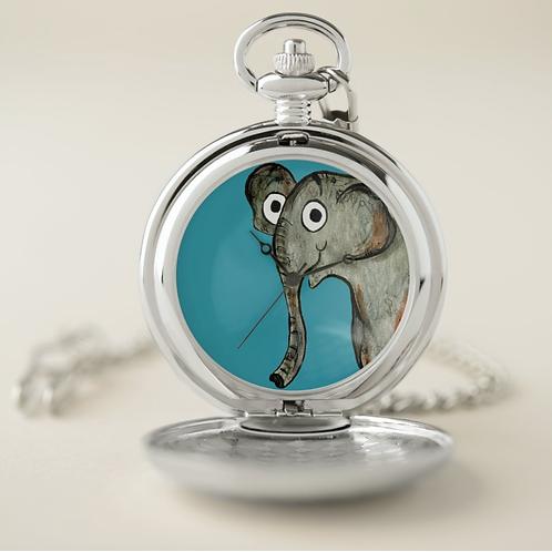 Erin The Elephant Pocket Watch
