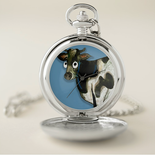 Colin The Cow Pocket Watch
