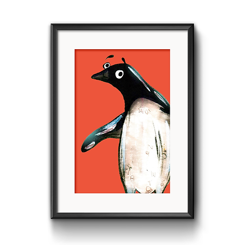 Paul The Penguin Print