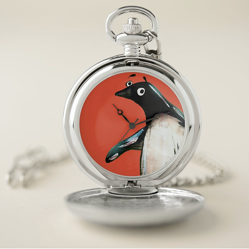 Paul The Penguin Pocket Watch