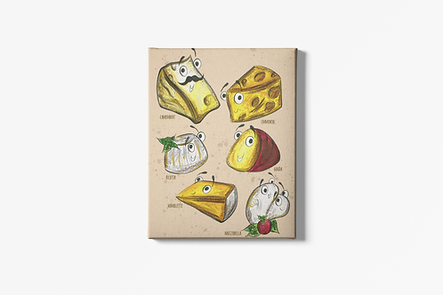 The Cheeses Canvas