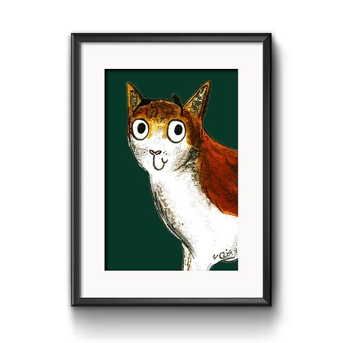 Caroline The Cat Print