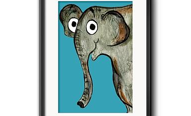 Erin The Elephant Print