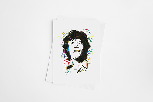 Mick Jagger Card