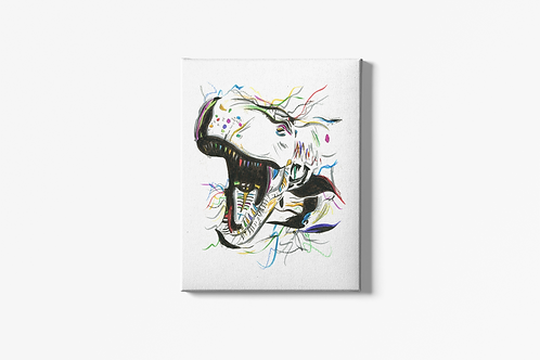 Terry The T-Rex Canvas