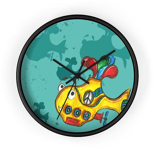 Yellow Submarine Clock