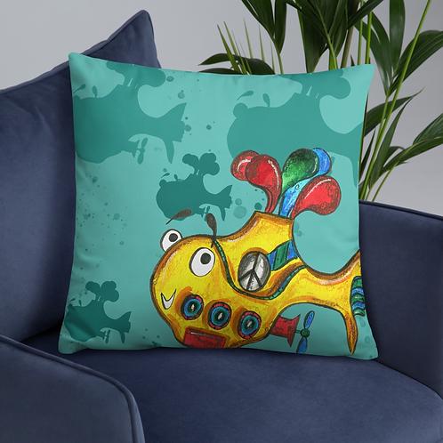 Yellow Submarine Cushion