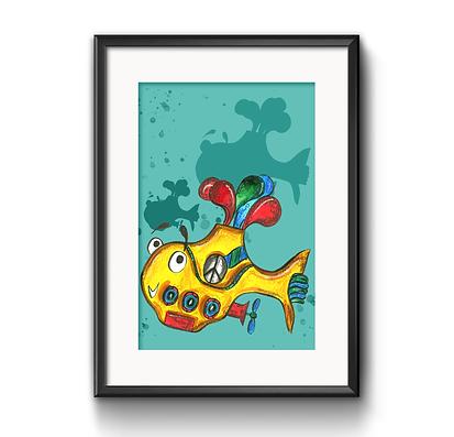 Yellow Submarine Print