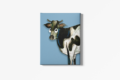 Colin The Cow Canvas