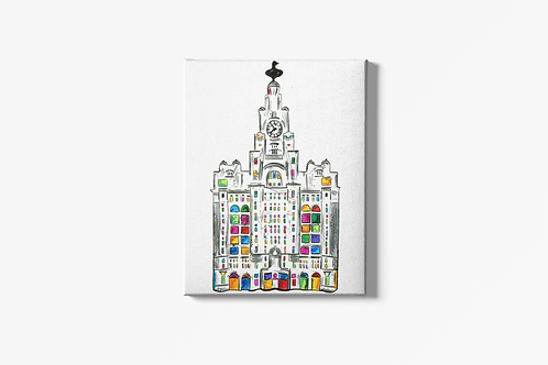 Liver Building Canvas