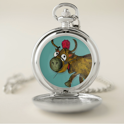 Yvonne The Yak Pocket Watch
