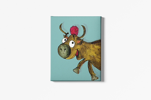 Yvonne The Yak Canvas