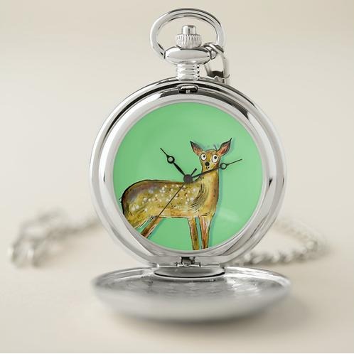 Darren The Deer Pocket Watch