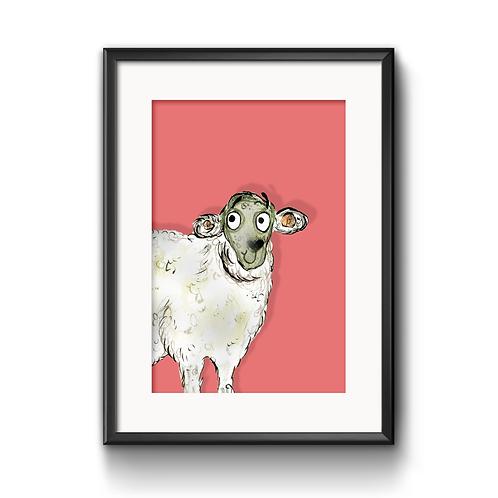 Sarah The Sheep Print