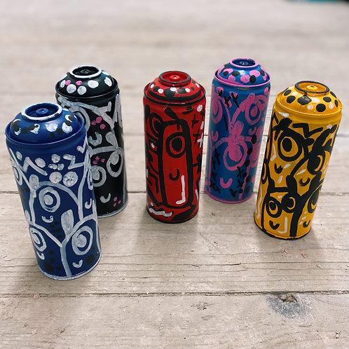 Ltd. Edition Original Painted Spray Cans