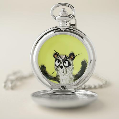 Patrick The Panda Pocket Watch