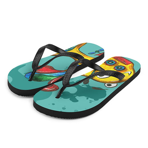 Yellow Submarine Flip-Flops