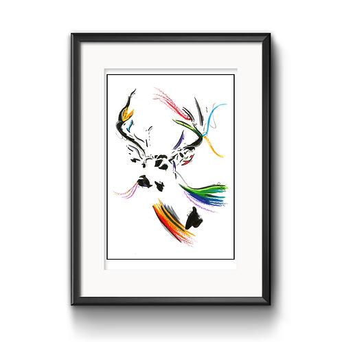Danny The Deer Print