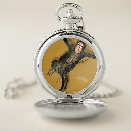 Matthew The Monkey Pocket Watch