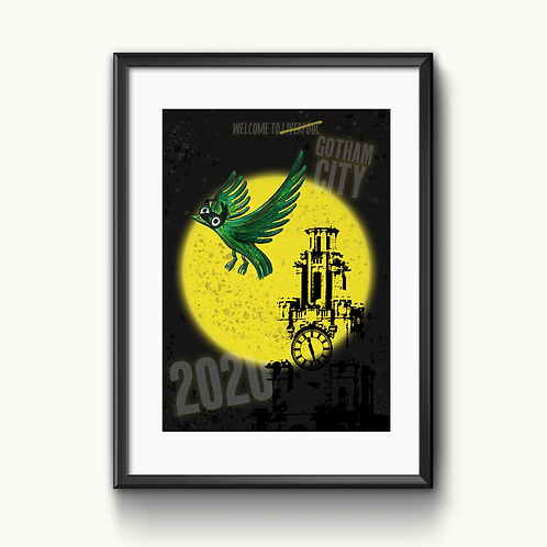 Batman In Liverpool A4 Print